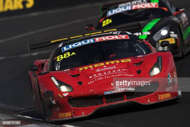 Toni Vilander Craig Lowndes and Jamie Whincup drive the Maranello Motorsport Ferrari during the 2017 Bathurst 12 hour race at Mount Panorama on...