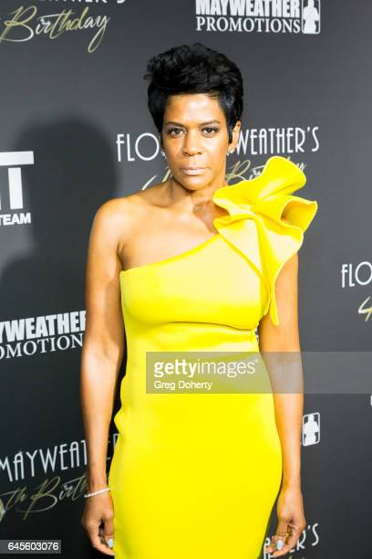 Toni Welch attends Floyd Mayweather's 40th Birthday Celebration on February 25 2017 in Los Angeles California