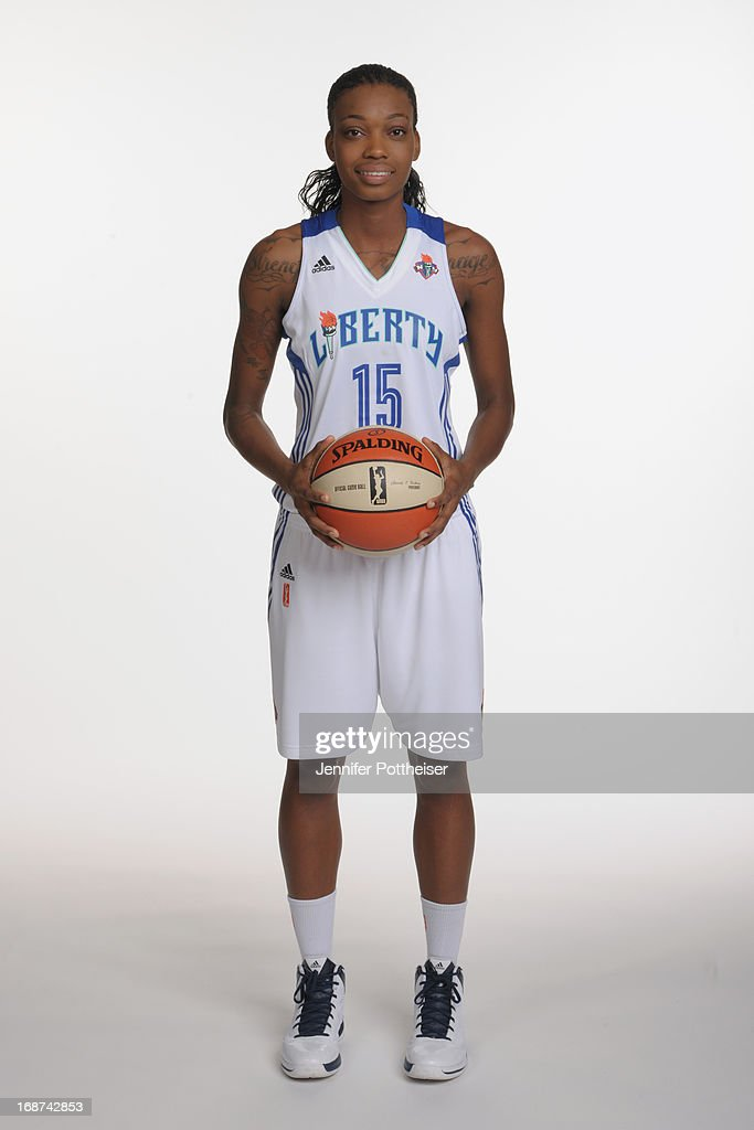 Toni Young #15 of the New York Liberty poses for a photo during WNBA Media Day on May 13, 2013 at the Madison Square Garden Training Facility in Tarrytown, New York.