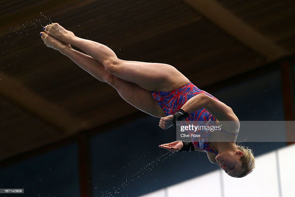 Tonia Couch of Great Britain in action during the Women's 10m Platform Final on day three of the FINA/Midea Diving World Series 2013 at the Royal Commonwealth Pool on April 21, 2013 in Edinburgh, Scotland.