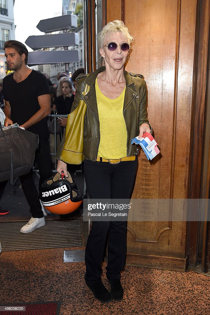 Tonie Marshall attends the Jean Paul Gaultier show as part of the Paris Fashion Week Womenswear Spring/Summer 2015 on September 27, 2014 in Paris, France.
