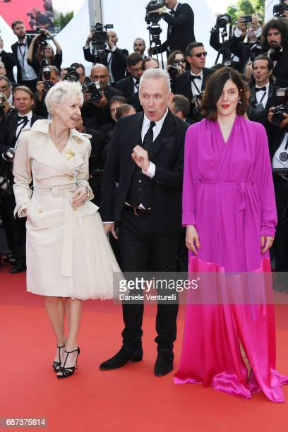 Tonie Marshall JeanPaul Gaultier and Valerie Donzelli attends the 70th Anniversary screening during the 70th annual Cannes Film Festival at Palais...