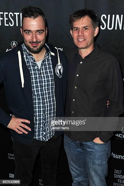 Tonislav Hristov and Sundance Programmer John Nein arrive at 'The Good Postman' Premiere at Temple Theater on January 23 2017 in Park City Utah