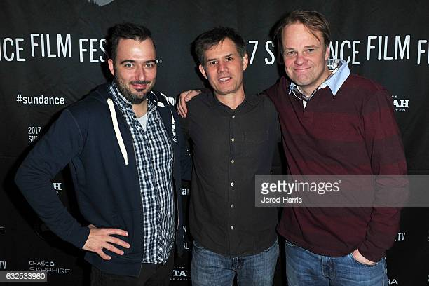 Tonislav Hristov John Nein and Kaarle Aho arrive at 'The Good Postman' Premiere at Temple Theater on January 23 2017 in Park City Utah