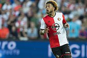 Tonny Vilhena of Feyenoord during the preseason friendly match between Feyenoord and Valencia on July 23 2016 at the Kuip in Rotterdam The Netherlands
