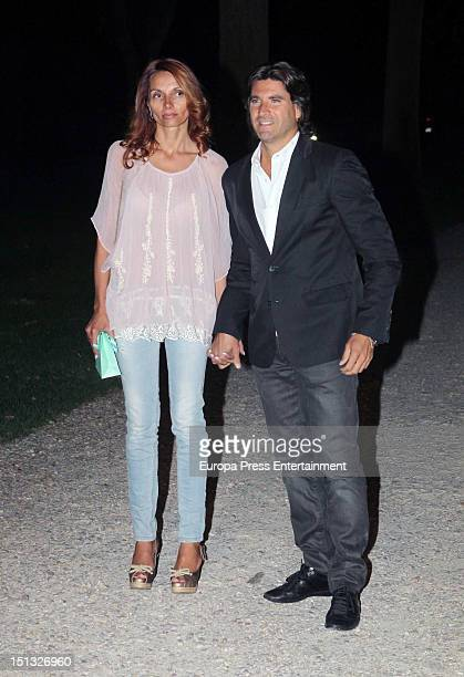 Tono Sanchis and Lorena Romero attend the 47th birthday party of Terelu Campos at Casa Monico Restaurant on September 5 2012 in Madrid Spain