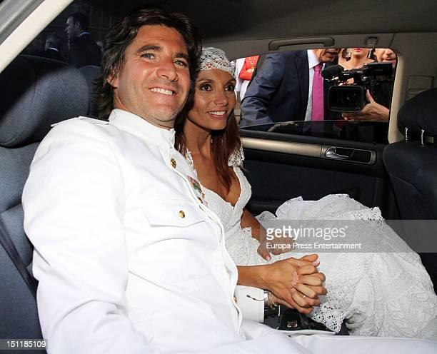 Tono Sanchis and Lorena Romero's wedding in Cercedilla on September 1 2012 in Madrid Spain