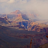 Looking West from the S. Kaibab Trail in the Grand Canyon.