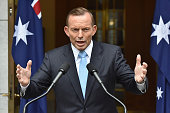 Tony Abbott Australia's prime minister speaks during a news conference at Parliament House in Canberra Australia on Monday Feb 9 2015 Abbott's...
