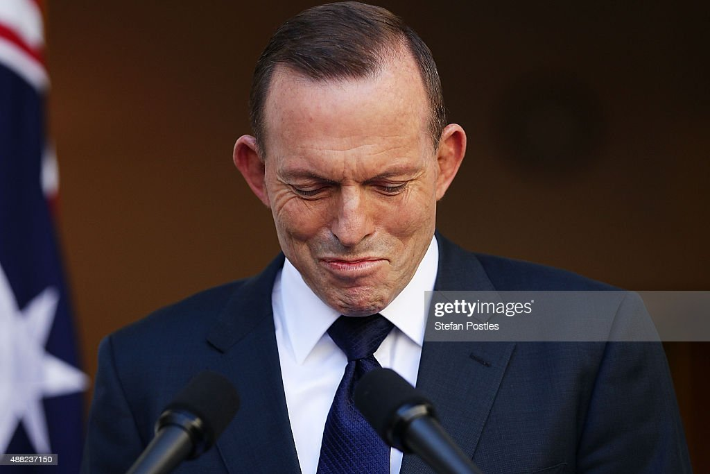 Tony Abbott Addresses Media Following His Defeat As Prime Minister