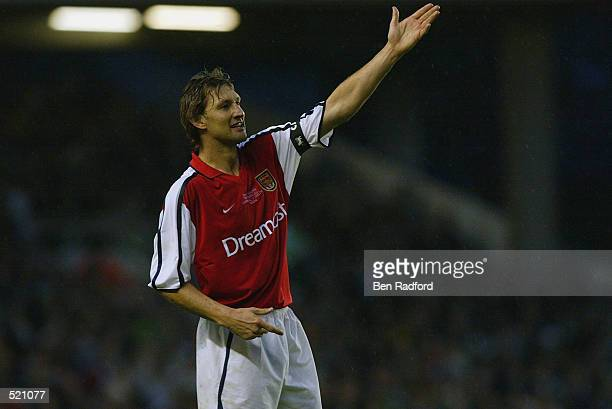 Tony Adams of Arsenal during the Tony Adams Testimonial match played between Arsenal and Glasgow Celtic at Highbury London on May 13 2002