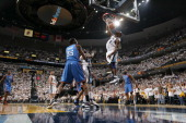 Tony Allen of the Memphis Grizzlies dunks against the Oklahoma City Thunder in Game Three of the Western Conference Semifinals in the 2011 NBA...