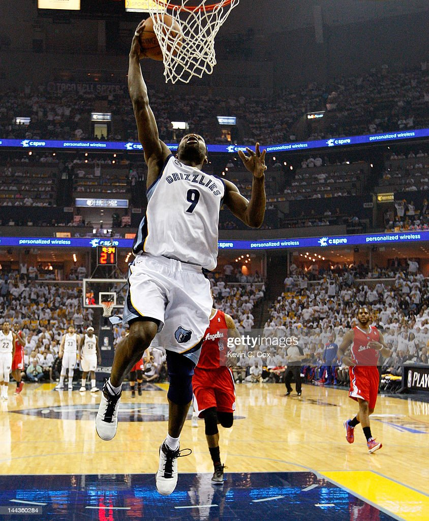 Tony Allen #9 of the Memphis Grizzlies goes up for a layup against the Los Angeles Clippers in Game Seven of the Western Conference Quarterfinals in the 2012 NBA Playoffs at FedExForum on May 13, 2012 in Memphis, Tennessee.