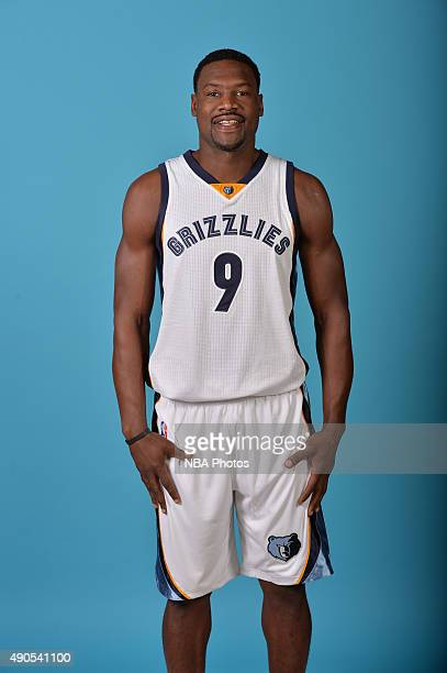 Tony Allen of the Memphis Grizzlies poses for a portrait during their 2015 Media Day on September 28 2015 at FedEx Forum in Memphis Tennessee NOTE TO...