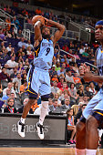 Tony Allen of the Memphis Grizzlies shoots against the Phoenix Suns during the game on March 21 2016 at Talking Stick Resort Arena in Phoenix Arizona...