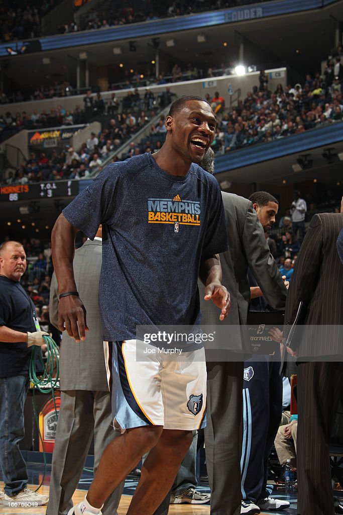 <a gi-track='captionPersonalityLinkClicked' href=/galleries/search?phrase=Tony+Allen+-+Basketball+Player&family=editorial&specificpeople=201665 ng-click='$event.stopPropagation()'>Tony Allen</a> #9 of the Memphis Grizzlies smiles before the game against the New Orleans Hornets on March 9, 2013 at FedExForum in Memphis, Tennessee.
