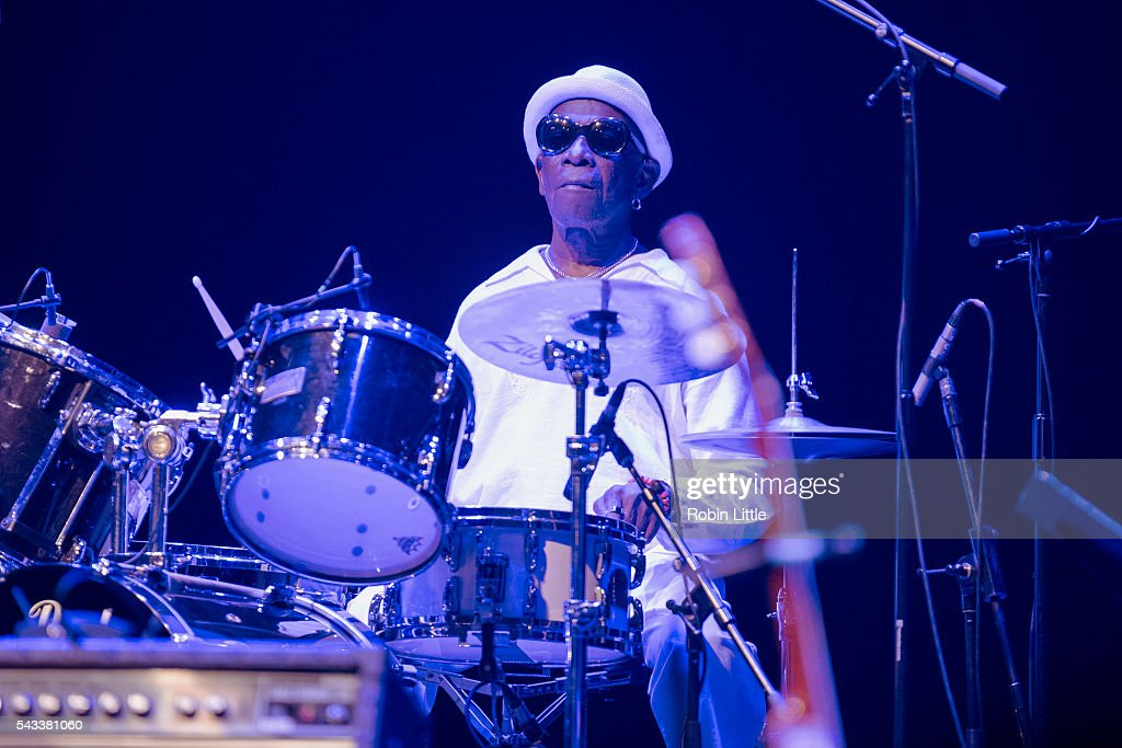 Tony Allen performs at Barbican Centre on June 27, 2016 in London, England.