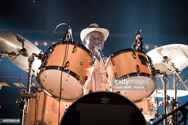 Tony Allen performs at La Gaite Lyrique on April 11 2015 in Paris France