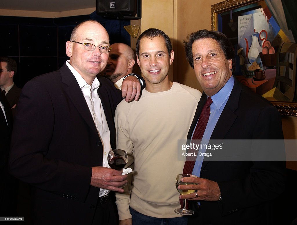 Tony Amatullo Brian Robbins and Peter Roth during Screening party for 'Birds of Prey' at The Guys Club in West Hollywood California United States