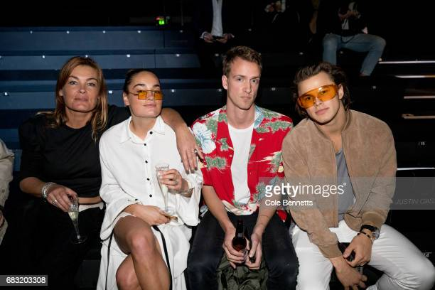 Tony and Scout O'onoghue Josh Flemming and Elliot Isles attends the Justin Cassin show at MercedesBenz Fashion Week Resort 18 Collections at...