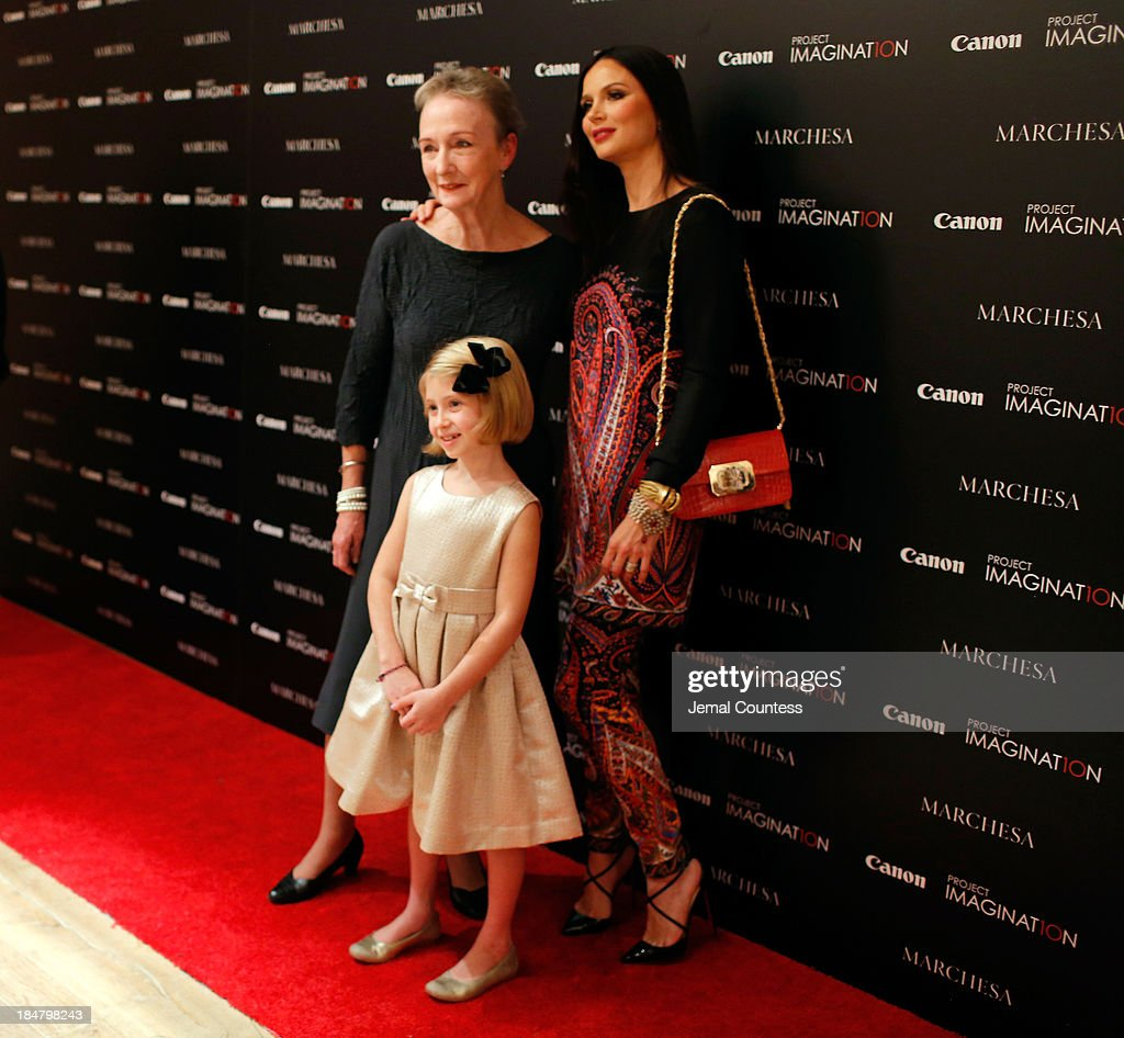 Tony Award nominated actress Kathleen Chalfant, Co-Founder of Marchesa and first time film director Georgina Chapman and actress Remy Bond attend Canon's Project Imaginat10n screening of 'A Dream of Flying,' a short film by Georgina Chapman at Crosby Street Hotel on October 16, 2013 in New York City.