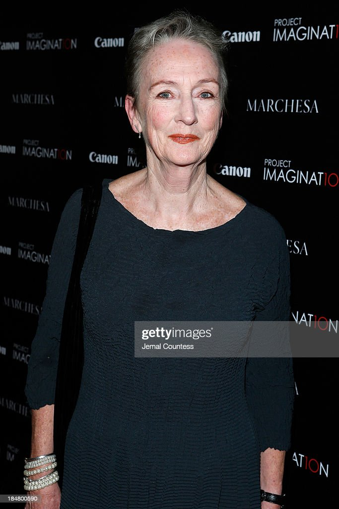 Tony Award nominated actress Kathleen Chalfant walks the carpet at Canon's Project Imaginat10n screening of 'A Dream of Flying,' a short film by Georgina Chapman at Crosby Street Hotel on October 16, 2013 in New York City.