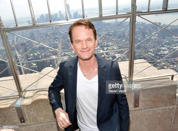 Tony Award Nominee Neil Patrick Harris visits The Empire State Building on June 3 2014 in New York City