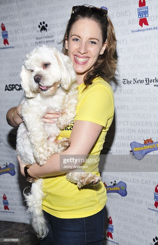Tony Award winner <a gi-track='captionPersonalityLinkClicked' href=/galleries/search?phrase=Jessie+Mueller&family=editorial&specificpeople=8736414 ng-click='$event.stopPropagation()'>Jessie Mueller</a> attends Broadway Barks 16 at Shubert Alley on July 12, 2014 in New York City.