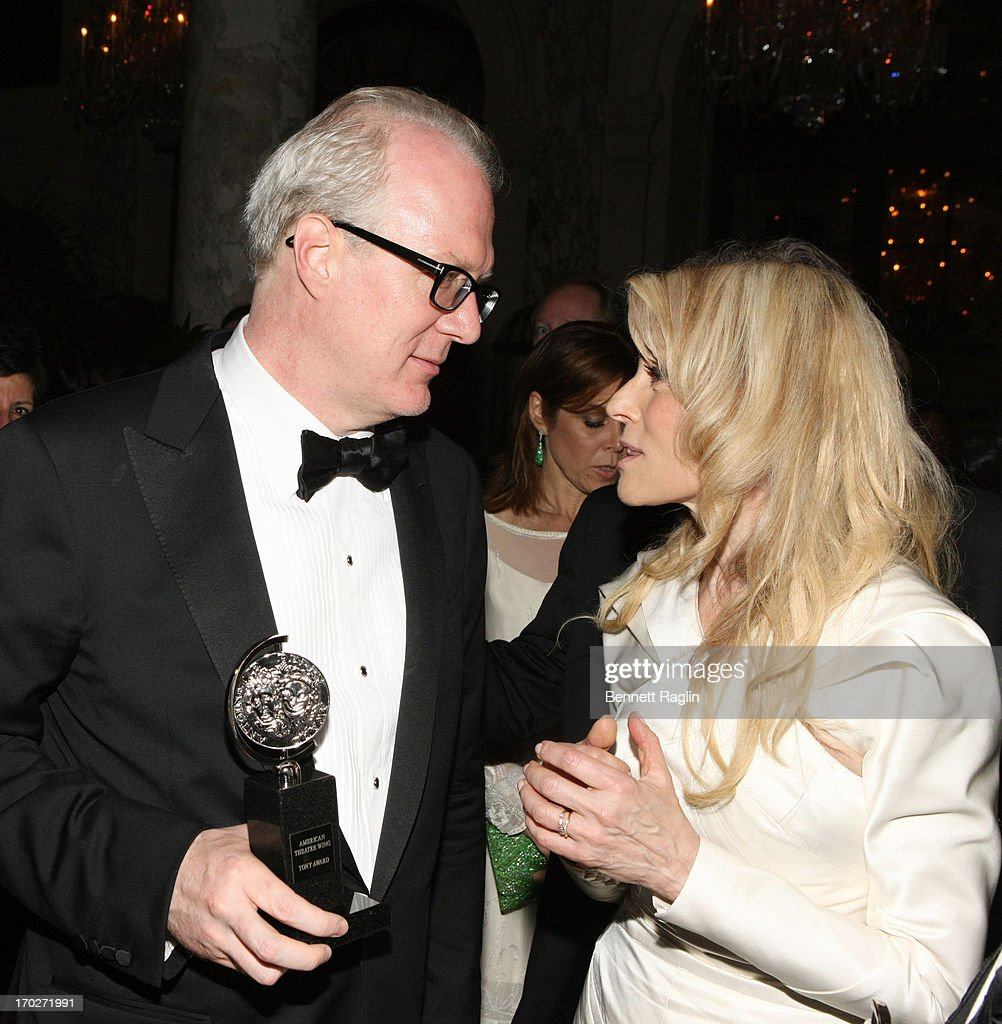 Tony Award winners Tracy Letts Performance by an Actor in a Leading Role in a Play Tracy Letts and Best Performance by an Actress in a Featured Role in a Play Judith Light attends the 2013 Tony Awards - Gala at The Plaza Hotel on June 9, 2013 in New York City.