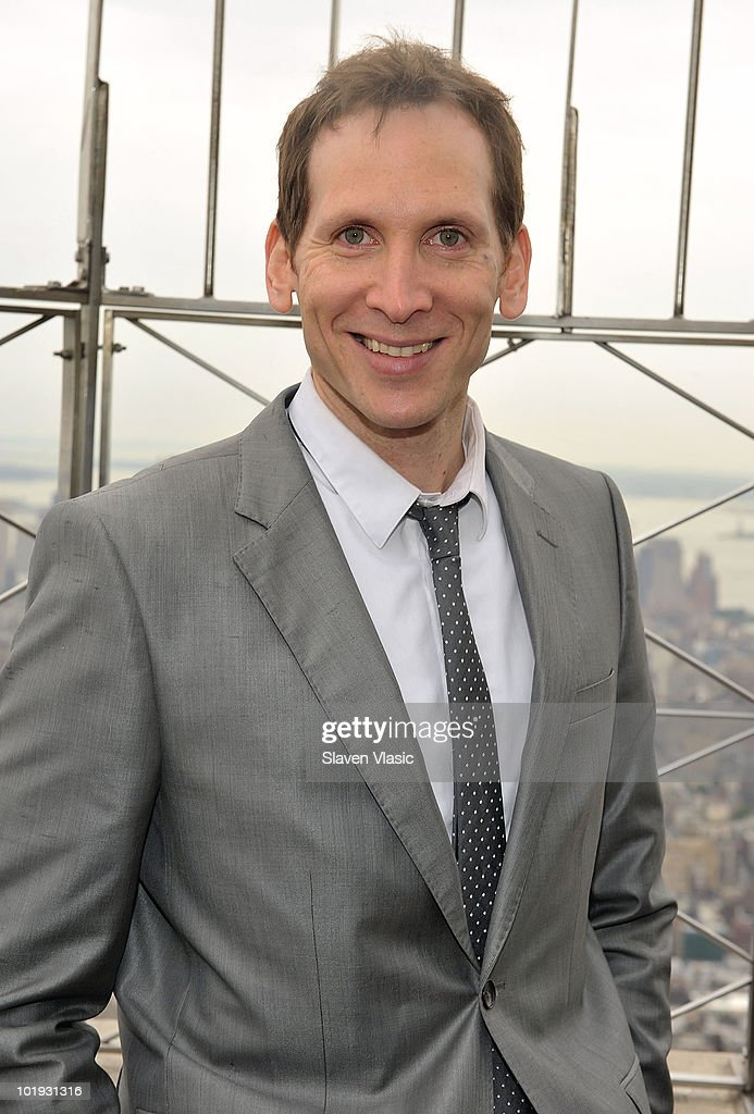 Tony Awards nominee Stephen Kunken visits The Empire State Building on June 9, 2010 in New York City.