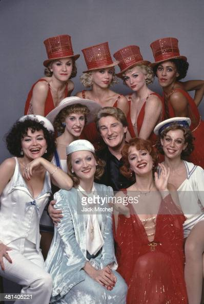 Tony Awardwinning actress and singer Patti LuPone choreographer Michael Smuin and the cast of the Broadway musical 'Anything Goes' photographed in...