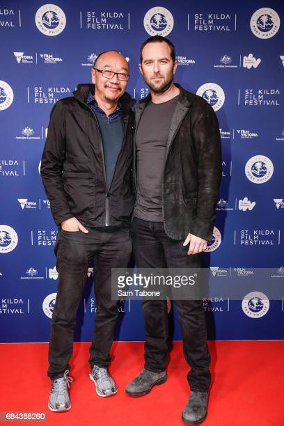 Tony Ayers and Sullivan Stapleton arrive ahead of the St Kilda Film Festival 2017 Opening Night at Palais Theatre on May 18 2017 in Melbourne...