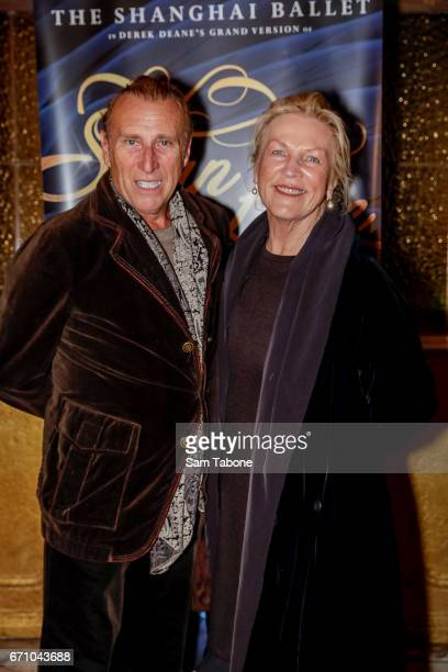 Tony Bartuccio and Caroline Gillmer arrives for opening night of the Shanghai Ballet's production of Swan Lake at Regent Theatre on April 21 2017 in...