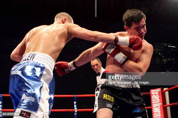 Tony Bellew and Jevgenijs Andrejevs during their LightHeavyweight bout at Everton Park Sports Centre Liverpool