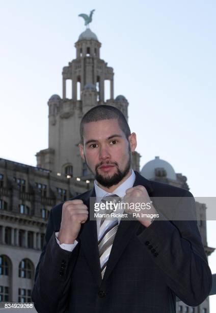 Tony Bellew at a press conference at the Atlantic Tower Thistle Hotel Liverpool