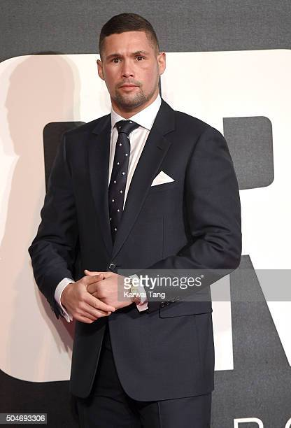 Tony Bellew attends the European Premiere of 'Creed' on January 12 2016 in London England