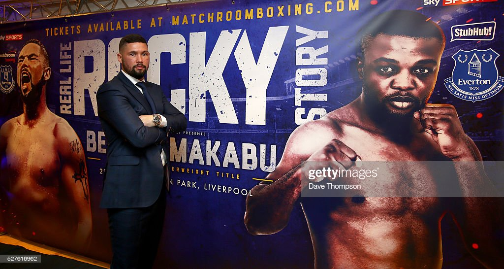 Tony Bellew during a press conference at Goodison Park on May 3, 2016 in Liverpool, England. Bellew will fight Ilunga Makabu for the vacant WBC World Cruiserweight title on May 29 at the home of Everton Football Club.