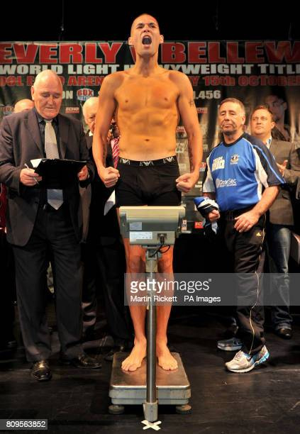 Tony Bellew during the weighin at the Contemporary Urban Centre Liverpool