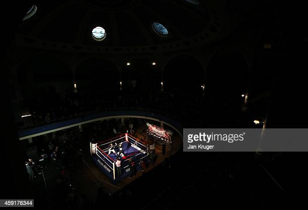 Tony Bellew in action during a media work out ahead of his fight against Nathan Cleverly on November 18 2014 in Liverpool England