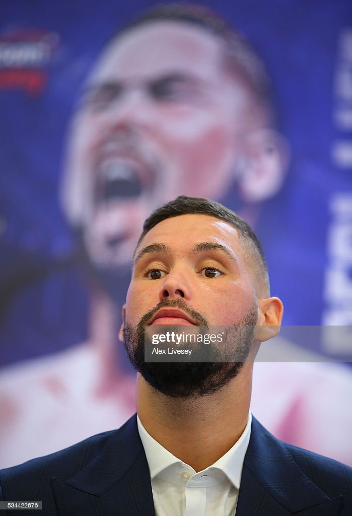 <a gi-track='captionPersonalityLinkClicked' href=/galleries/search?phrase=Tony+Bellew&family=editorial&specificpeople=2132983 ng-click='$event.stopPropagation()'>Tony Bellew</a> looks on during a press conference ahead of his fight witn Ilunga Makabu at the Royal Liver Building on May 26, 2016 in Liverpool, England.
