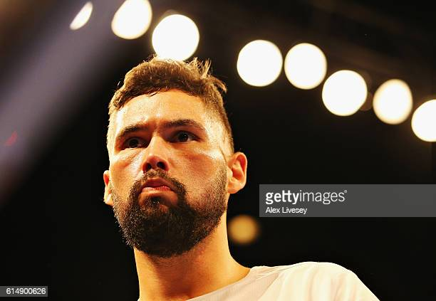 Tony Bellew of England in the ring before the WBC Cruiserweight Championship match during Boxing at Echo Arena on October 15 2016 in Liverpool England
