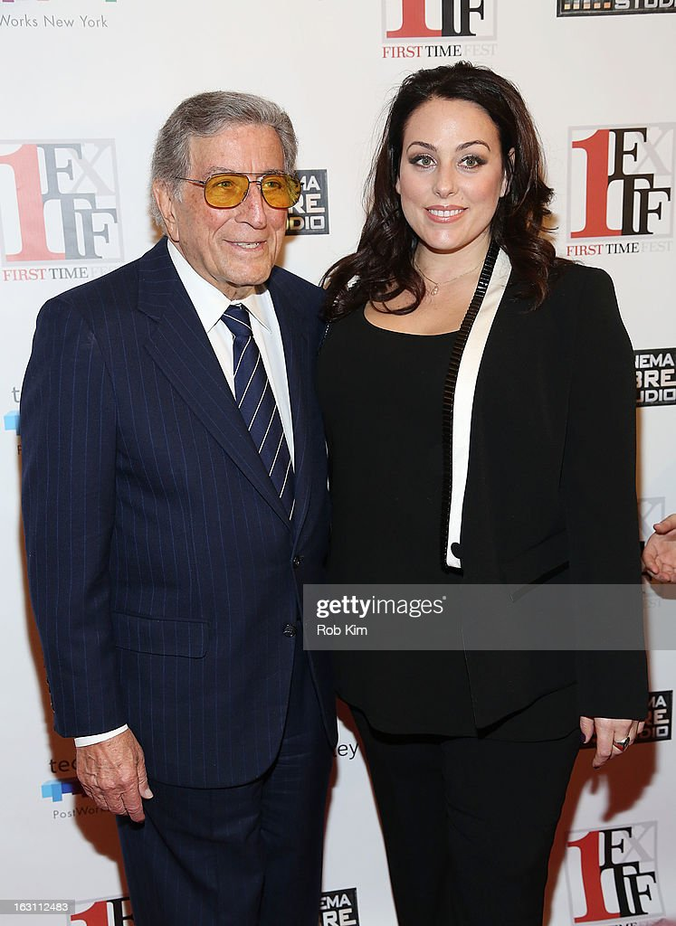 <a gi-track='captionPersonalityLinkClicked' href=/galleries/search?phrase=Tony+Bennett+-+Singer&family=editorial&specificpeople=160951 ng-click='$event.stopPropagation()'>Tony Bennett</a> and daughter Joanna Bennett attend the closing night awards during the 2013 First Time Fest at The Players Club on March 4, 2013 in New York City.