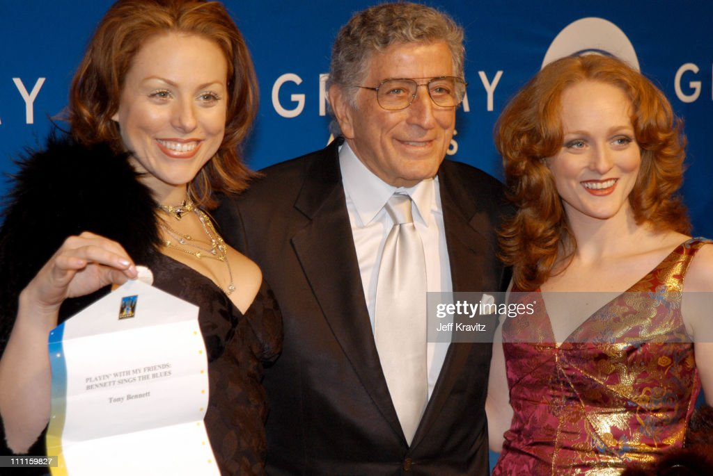 Tony Bennett and daughters during The 45th Annual GRAMMY Awards - Arrivals at Madison Square Garden in New York, NY, United States.