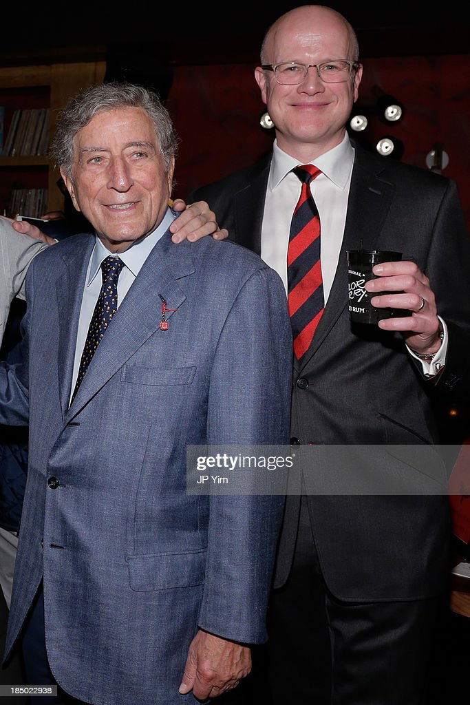 <a gi-track='captionPersonalityLinkClicked' href=/galleries/search?phrase=Tony+Bennett+-+Singer&family=editorial&specificpeople=160951 ng-click='$event.stopPropagation()'>Tony Bennett</a> and designer Mark Jeffery attend Zappos Couture Welcomes Jeffery-West Infamous English Shoes at No. 8 on October 16, 2013 in New York City.