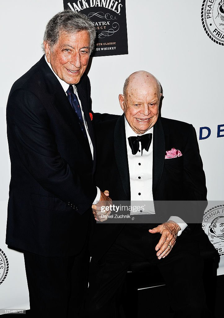 <a gi-track='captionPersonalityLinkClicked' href=/galleries/search?phrase=Tony+Bennett+-+Singer&family=editorial&specificpeople=160951 ng-click='$event.stopPropagation()'>Tony Bennett</a> and <a gi-track='captionPersonalityLinkClicked' href=/galleries/search?phrase=Don+Rickles&family=editorial&specificpeople=1474774 ng-click='$event.stopPropagation()'>Don Rickles</a> atend The Friars Foundation 2013 Applause Award Gala honoring <a gi-track='captionPersonalityLinkClicked' href=/galleries/search?phrase=Don+Rickles&family=editorial&specificpeople=1474774 ng-click='$event.stopPropagation()'>Don Rickles</a> at The Waldorf Astoria on June 24, 2013 in New York City.