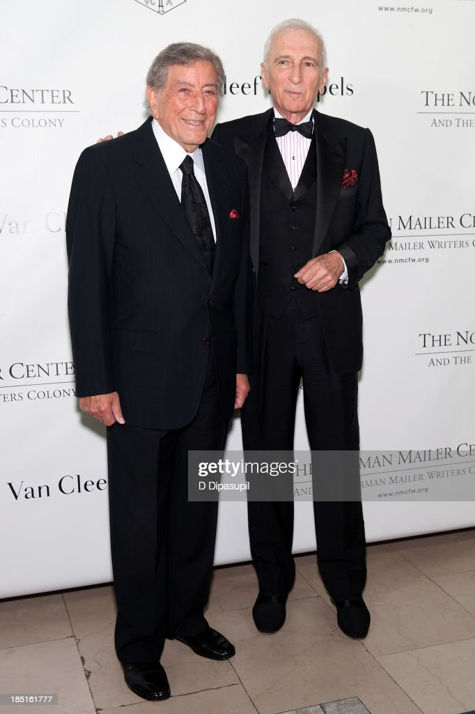 <a gi-track='captionPersonalityLinkClicked' href=/galleries/search?phrase=Tony+Bennett+-+Singer&family=editorial&specificpeople=160951 ng-click='$event.stopPropagation()'>Tony Bennett</a> (L) and <a gi-track='captionPersonalityLinkClicked' href=/galleries/search?phrase=Gay+Talese&family=editorial&specificpeople=224015 ng-click='$event.stopPropagation()'>Gay Talese</a> attend the 2013 Norman Mailer Center gala at the New York Public Library on October 17, 2013 in New York City.