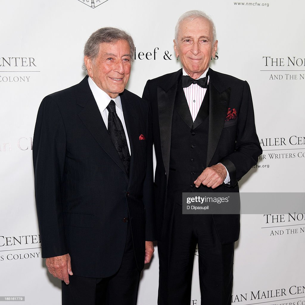 Tony Bennett (L) and Gay Talese attend the 2013 Norman Mailer Center gala at the New York Public Library on October 17, 2013 in New York City.