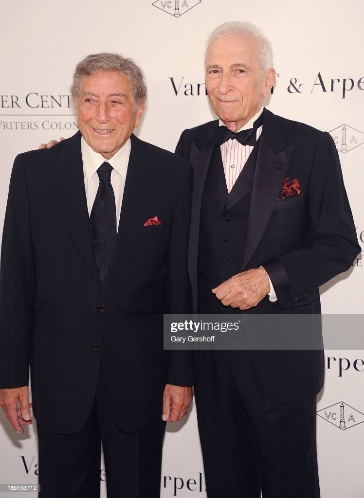 Tony Bennett (L) and Gay Talese attends the 2013 Norman Mailer Center gala at New York Public Library on October 17, 2013 in New York City.