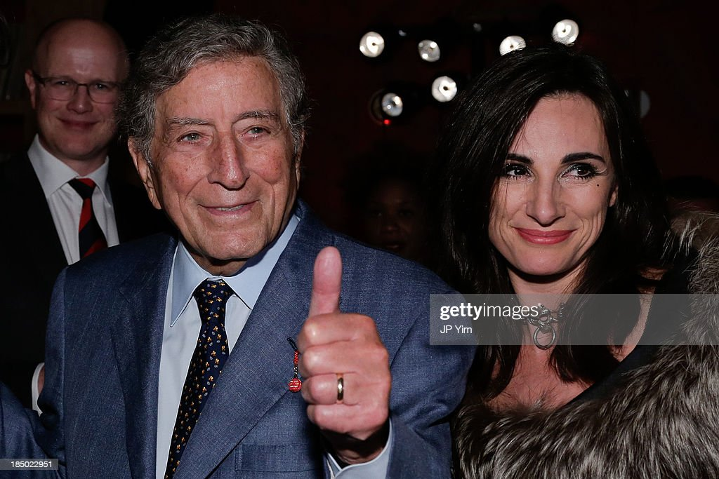 <a gi-track='captionPersonalityLinkClicked' href=/galleries/search?phrase=Tony+Bennett+-+Singer&family=editorial&specificpeople=160951 ng-click='$event.stopPropagation()'>Tony Bennett</a> and guest attend Zappos Couture Welcomes Jeffery-West Infamous English Shoes at No. 8 on October 16, 2013 in New York City.
