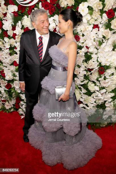 Tony Bennett and Lucy Liu attend the American Theatre Wing Centennial Gala at Cipriani 42nd Street on Septembe